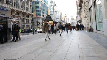 La Gran Vía de Madrid, semipeatonalizada