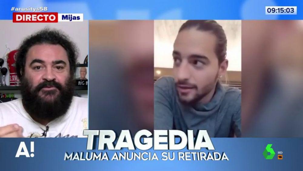 El tremendo 'zasca' de El Sevilla a Maluma tras su retirada