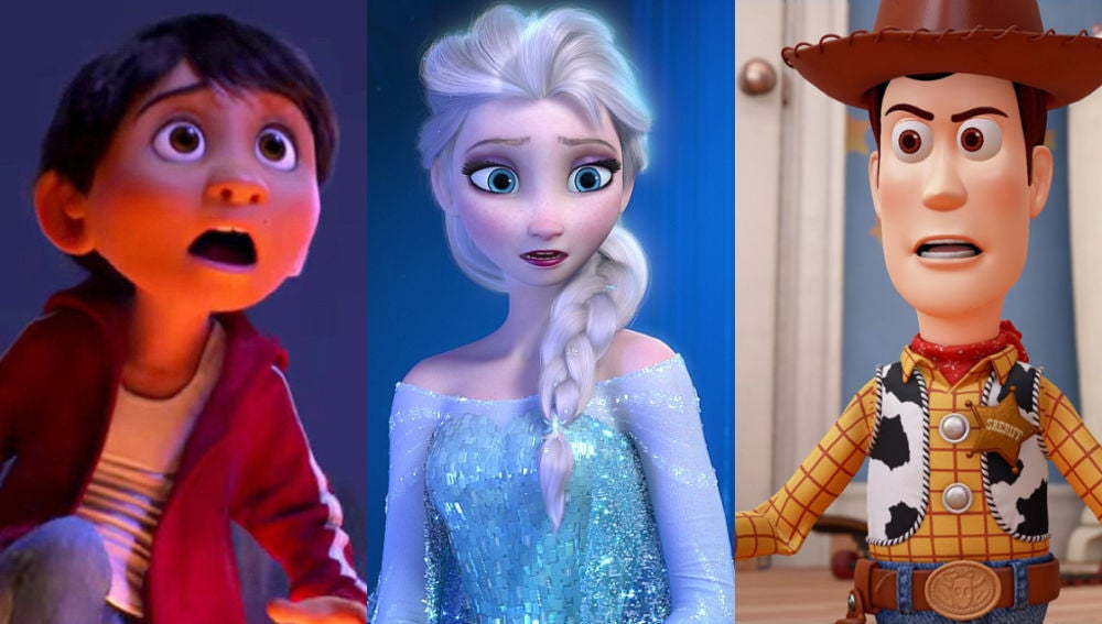 'Toy Story', 'Frozen' y 'Coco'
