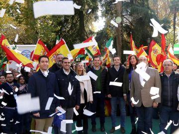 Pablo Casado durante un acto electoral en Granada