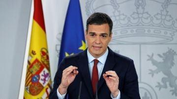 Pedro Sánchez en una comparecencia ante los medios (Archivo)