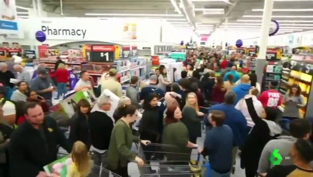 Imagen de las aglomeraciones en EEUU por el Black Friday