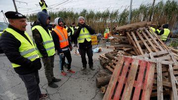Frontera entre España y Francia bloqueada