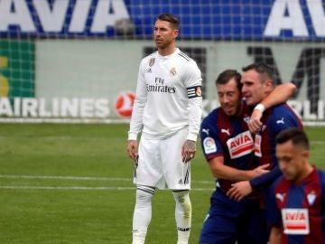 Sergio Ramos durante el partido contra el Eibar