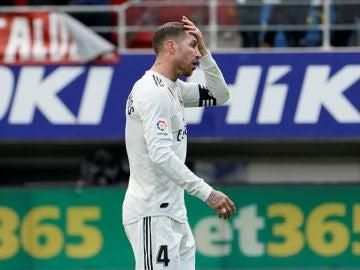 Sergio Ramos, durante el partido contra el Eibar