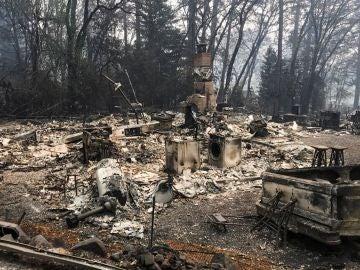 Estampa que dejan los incendios en California