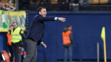 El entrenador del Villarreal, Javier Calleja