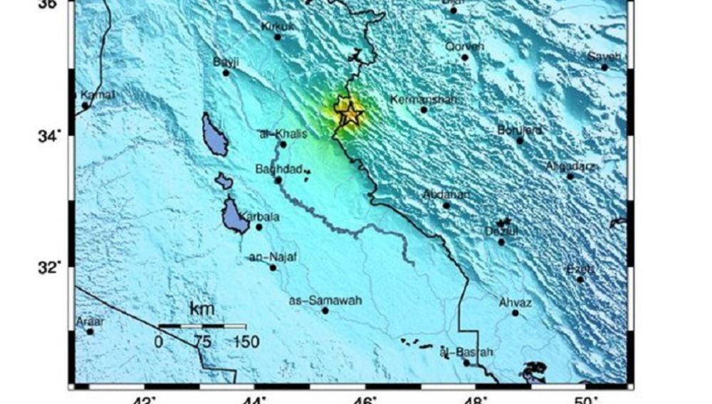 Imagen del terremoto en la frontera entre Irán e Irak