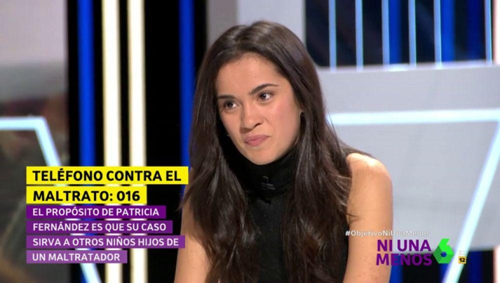 Patricia, hija de una víctima de violencia machista
