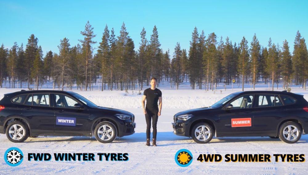 Tracción 4x4 y neumáticos de verano vs Tracción delantera con neumáticos de invierno