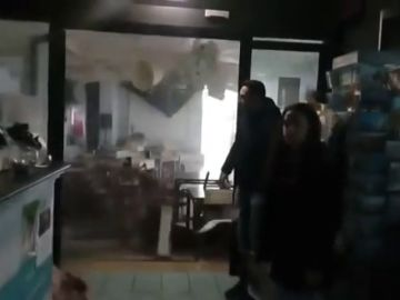Impresionante tornado en Italia que arrasa con un restaurante