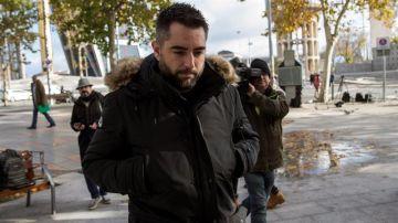 Dani Mateo, a su llegada al juzgado en una imagen de archivo