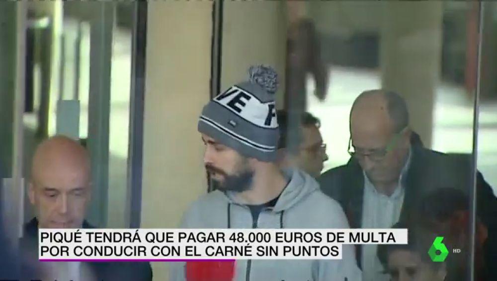 Gerard Piqué acepta una multa de 48.000 euros por conducir sin puntos el pasado mes de agosto
