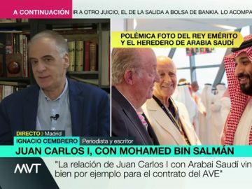"""Ignacio Cembrero, sobre la foto del rey Juan Carlos y Mohamed bin Salmán: """"Debería haber renunciado a hacer ese viaje para evitar esta imagen"""""""