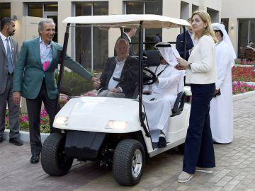El rey Juan Carlos con la infanta Cristina