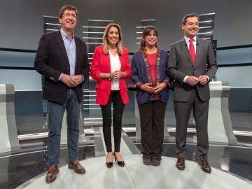 Los cuatro principales candidatos a la Presidencia de la Junta de Andalucía