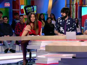 Cristina Pedroche se descalza en Zapeando