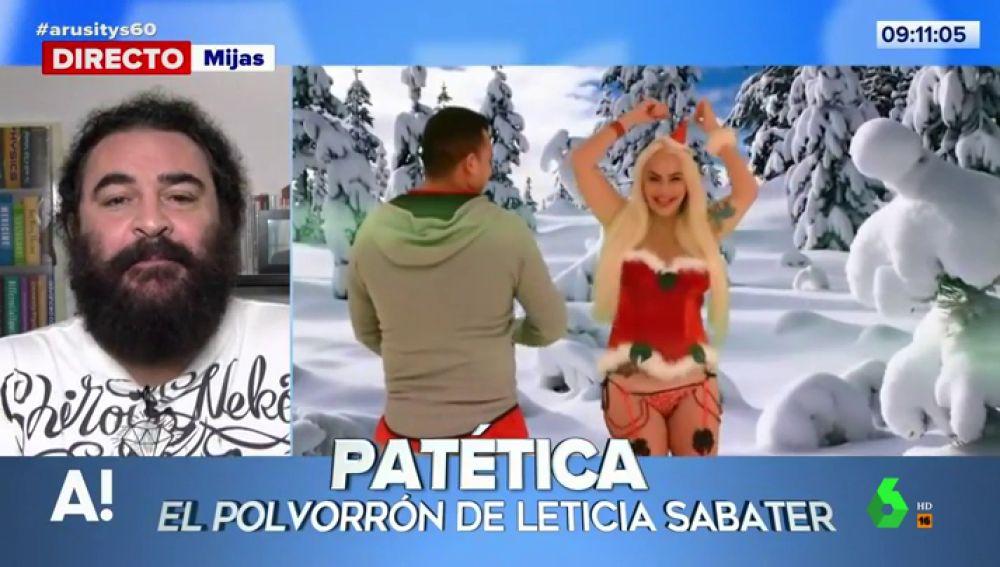 """El Sevilla habla de """"la incursión artística navideña"""" de Leticia Sabater, 'El polvorrón'"""