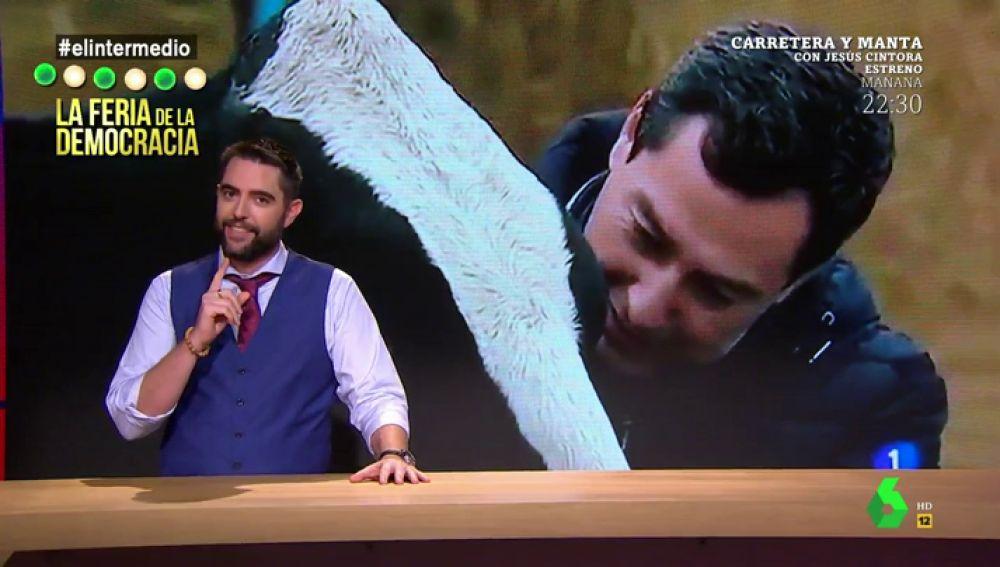 """La reacción de Dani Mateo a las últimas imágenes de la campaña de Moreno Bonilla: """"Quiere convertir a una vaca lechera en una vaca pepera"""""""