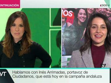 """Inés Arrimadas, sobre los pactos en Andalucía: """"No vamos a poder gobernar solos en ningún caso. Estamos dispuestos a sumar con el PP"""""""