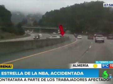 Impactantes imágenes del accidente de tráfico que sufrió la estrella de la NBA Stephen Curry