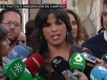 La candidata de Adelante Andalucía, Teresa Rodríguez