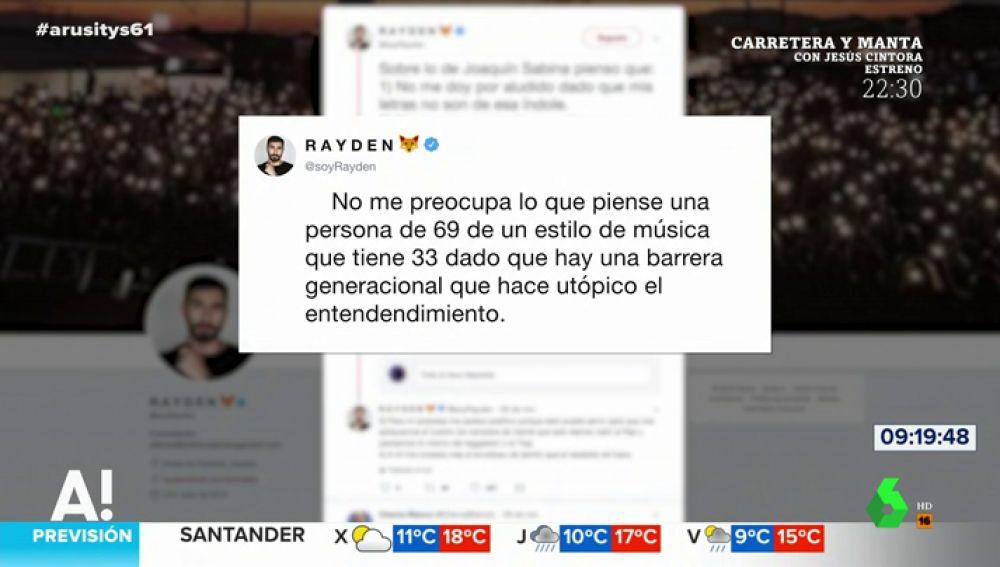 El dardo de Rayden a Joaquín Sabina después de criticar el rap
