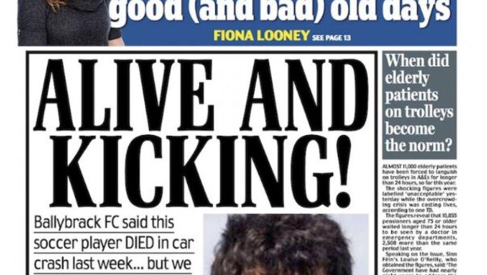 La falsa muerte de un jugador del Ballybrack FC