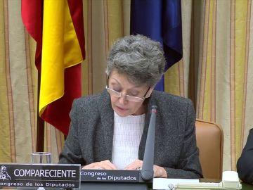 Rosa María Mateo pide perdón al diputado del PP al que insultó