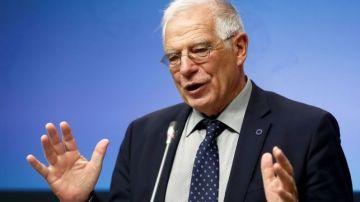 El candidato del PSOE al Parlamento Europeo, Josep Borrell