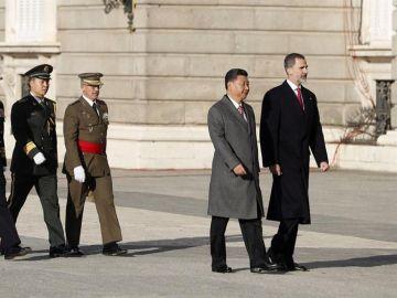 Rey Felipe VI y el presidente chino Xi Jinping