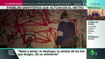 """Hablamos con uno de los grafiteros que actúan en el metro: """"Puedo acabar con multas o en la cárcel pero merece la pena"""""""
