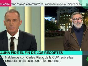 """Carles Riera, portavoz de la CUP en el Parlament: """"No podemos depender de las migajas que nos deja el Estado español"""""""