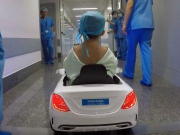 En coche al quirófano
