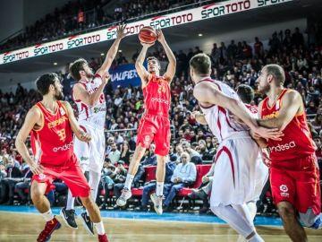 Un momento del Turquía vs España de baloncesto