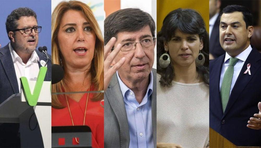 Elecciones Andalucía 2018: candidatos de los principales partidos