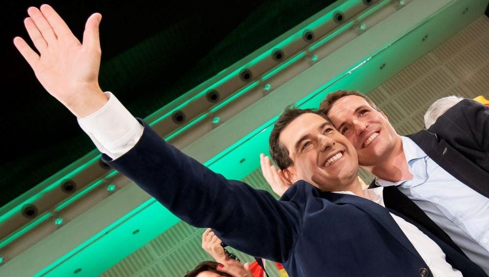 El candidato del Partido Popular a la presidencia de la Junta, Juanma Moreno