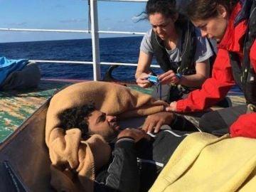 Migrante a bordo de 'Nuestra Madre de Loreto'