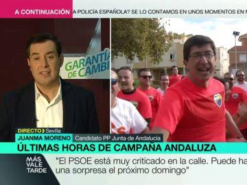 Juanma Moreno en Más Vale Tarde
