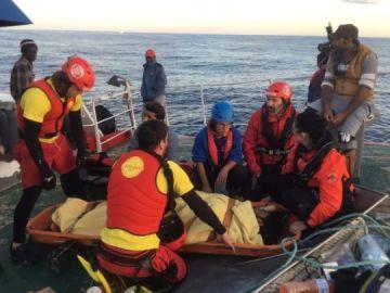 Migrante rescatado del buque 'Nuestra Señora de Loreto'