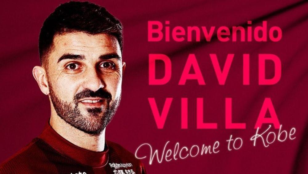 David Villa, nuevo jugador del Vissel Kobe