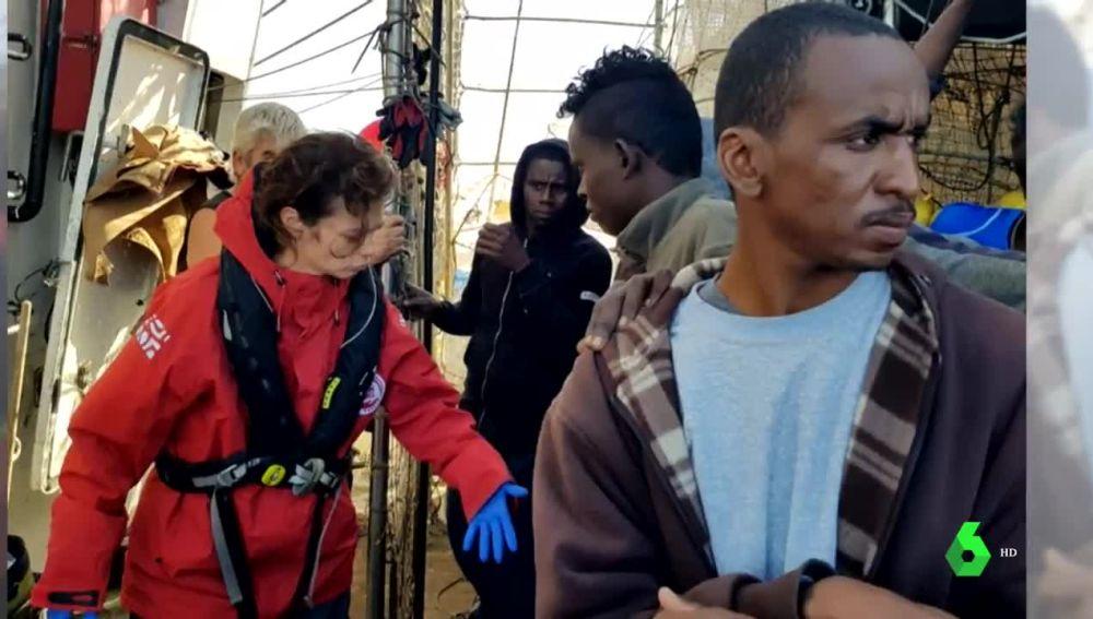 Migrantes en el Nuestra señora de Loreto