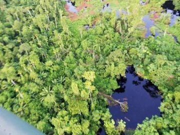 Vertido de petróleo en la Amazonia peruana