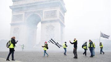 Protestas en París de los 'Chalecos Amarillos'