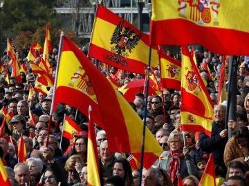 Vox se manifiesta en el centro de Madrid