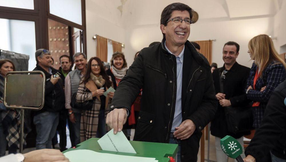 El candidato a la Presidencia de la Junta de Andalucía por Ciudadanos, Juan Marín