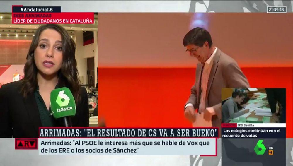 """Arrimadas: """"Al PSOE le interesa más que se hable de Vox que de los ERE o de los socios de Sánchez"""""""
