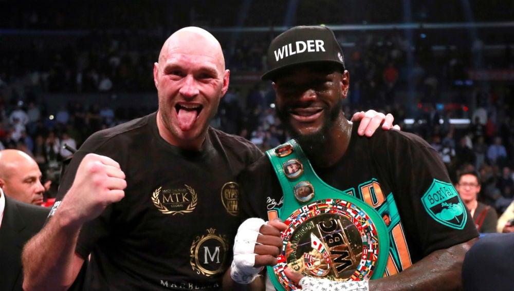 Wilder, con el cinturón de campeón