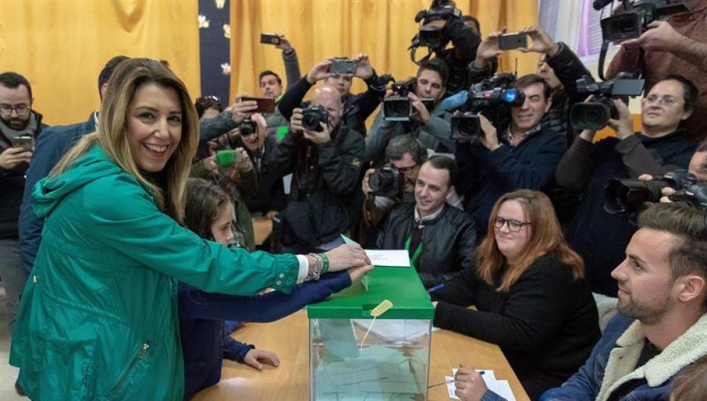 La candidata del PSOE-A a la presidencia de la Junta de Andalucía, Susana Díaz