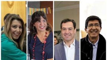 Los candidatos a las elecciones de Andalucía